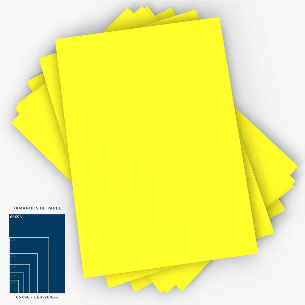 Cartaz Papel Cartão Liso Amarelo 66x96cm 100 un