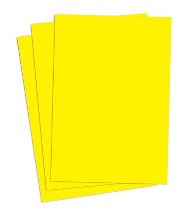 Cartaz Papel Cartão Liso Amarelo A2 100 un