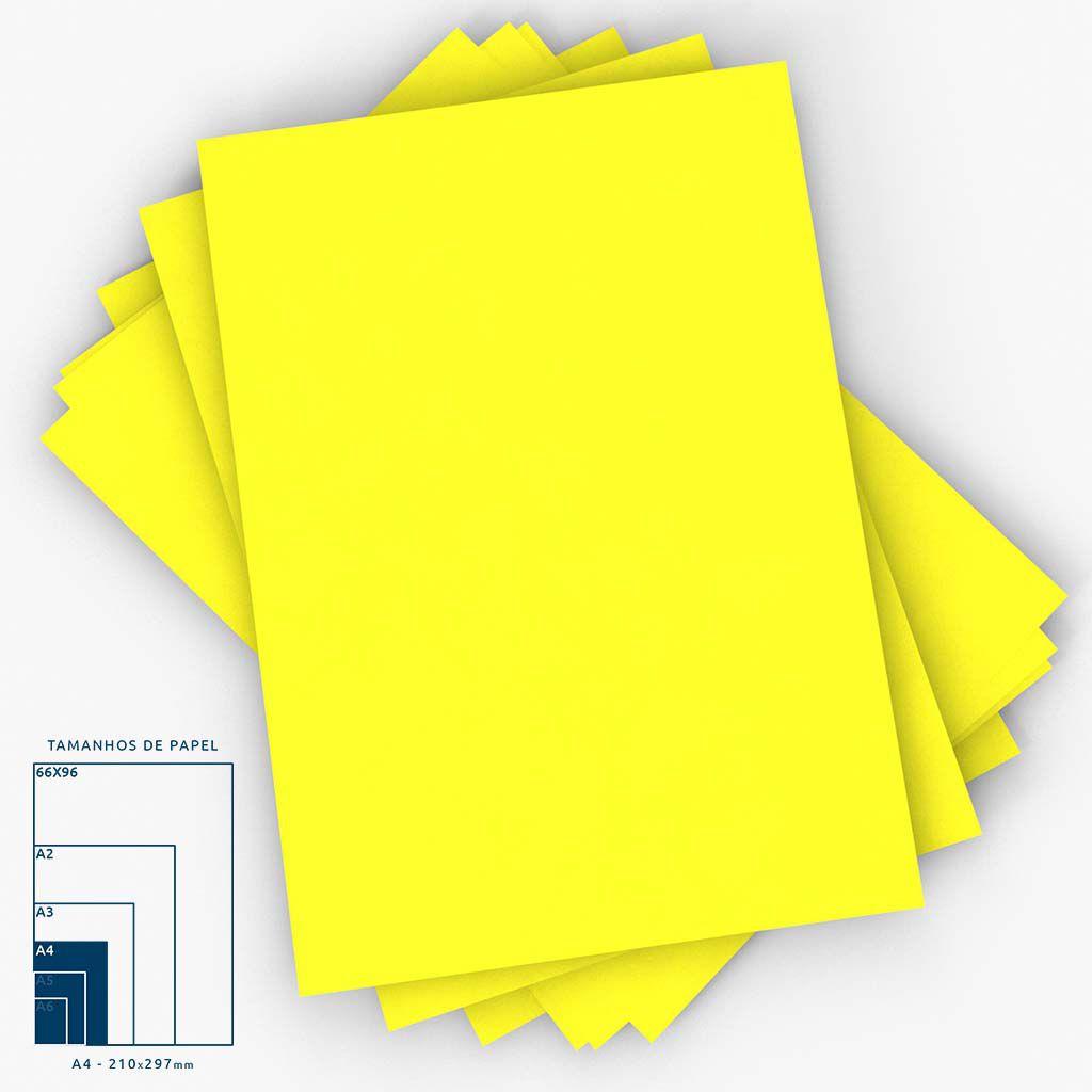Cartaz Papel Cartão Liso Amarelo A4 100 un