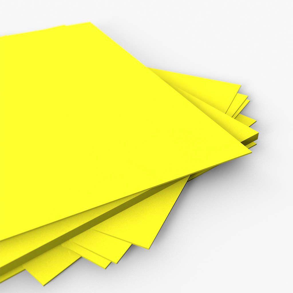 Cartaz Papel Cartão Liso Amarelo A5 100 un