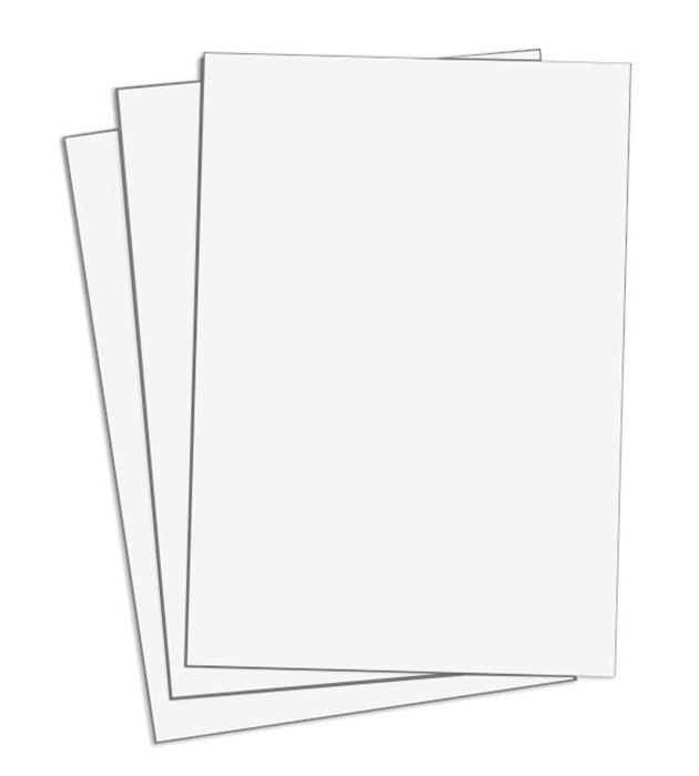 Cartaz Papel Cartão Liso Branco 77x113cm 100 un