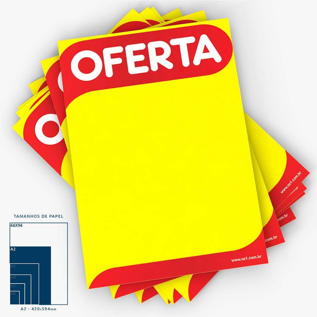 Cartaz Papel Cartão Oferta A2 100 un