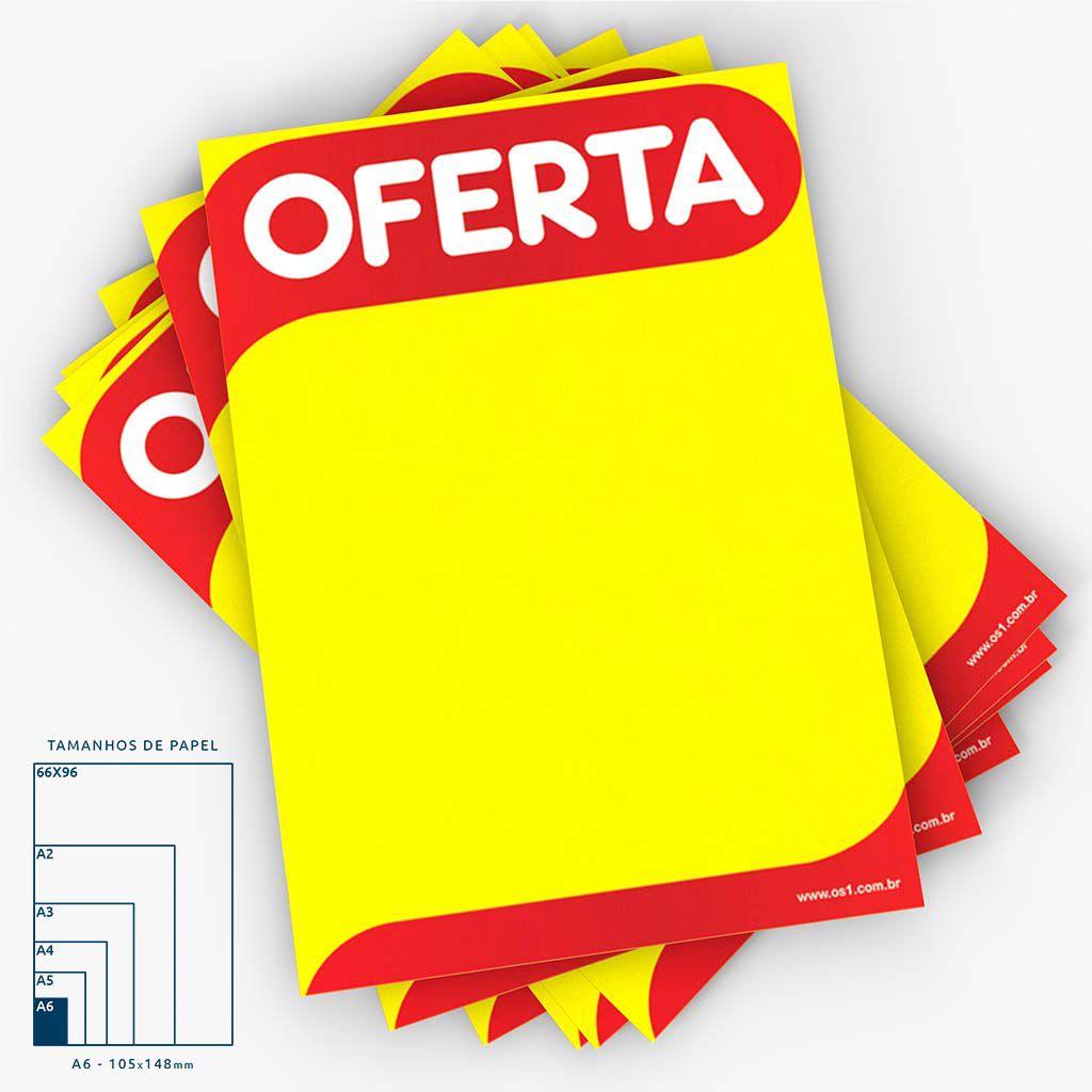 Cartaz Papel Cartão Oferta A6 100 un