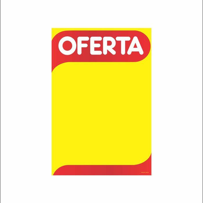 Cartaz Papel Cartão Oferta Amarelo/Vermelho 66X96 100 un