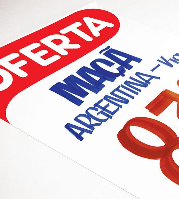 Cartaz Papel Cartão Oferta Branco/Vermelho 66X96 100 un