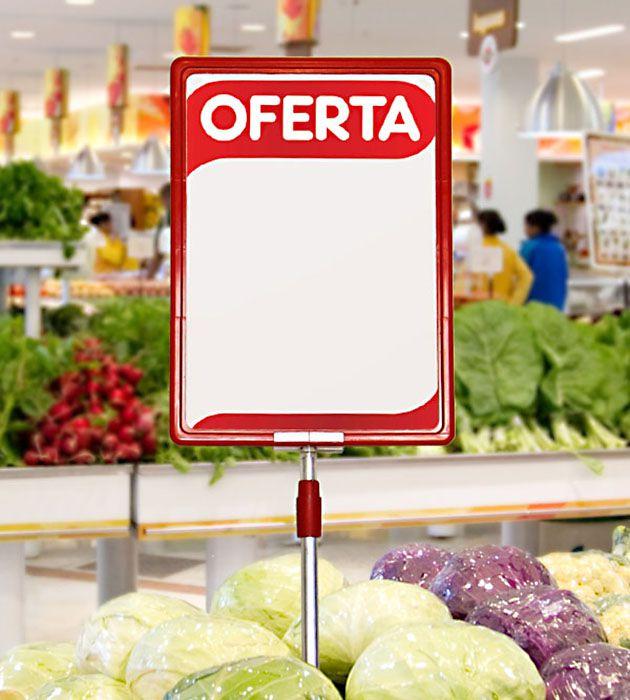 Cartaz Papel Cartão Oferta Branco/Vermelho A5 100 un