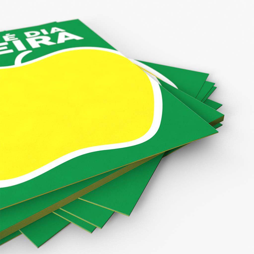Cartaz Papel Cartão Oferta Dia de Feira A6 100 un