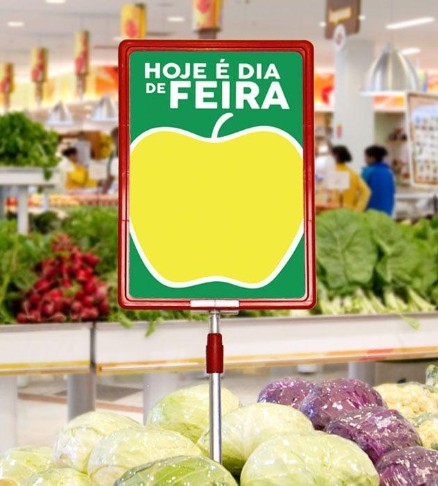 Cartaz Papel Cartão Oferta Dia de Feira Verde/Amarelo/Branco A5 100 un