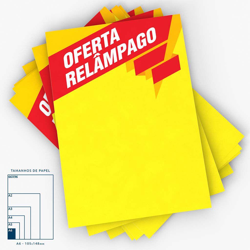 Cartaz Papel Cartão Oferta Relâmpago A6 100 un