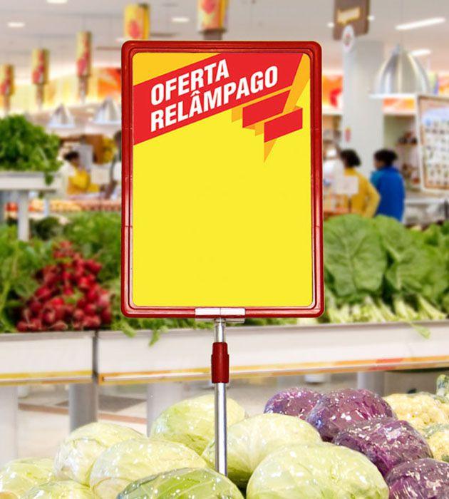 Cartaz Papel Cartão Oferta Relâmpago Amarelo/Vermelho A5 100 un