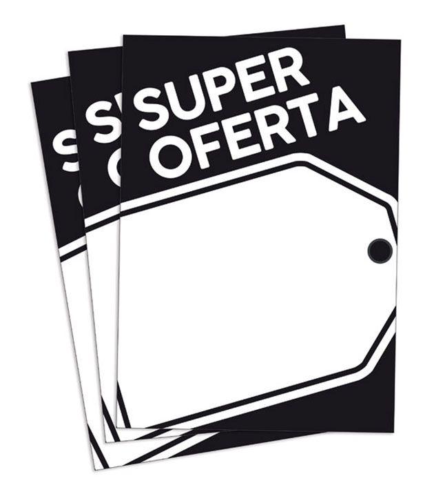 Cartaz Papel Cartão Oferta Super Oferta Preto/Branco 66X96 100 un
