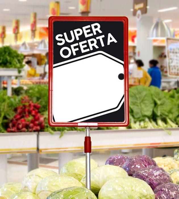 Cartaz Papel Cartão Oferta Super Oferta Preto/Branco A6 100 un