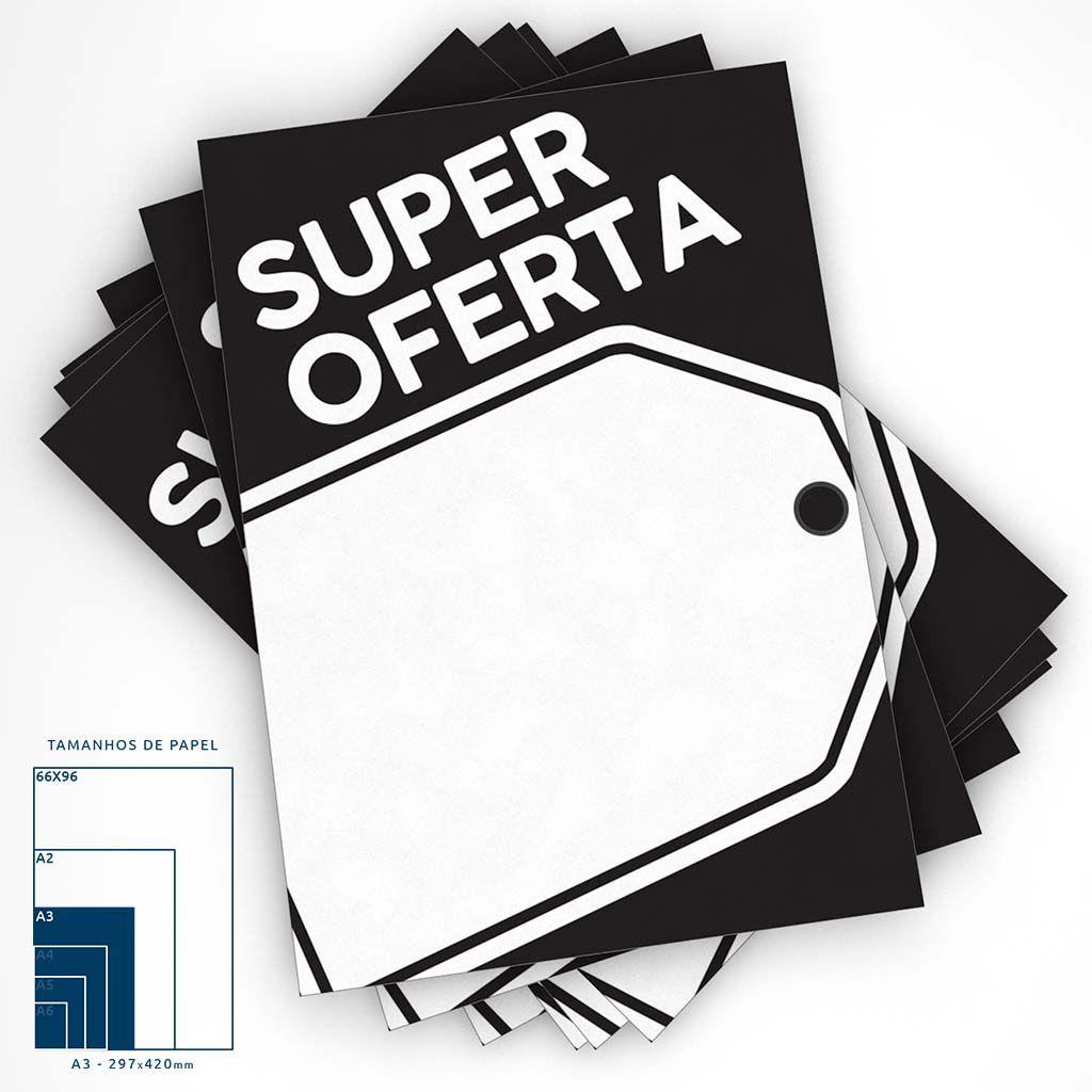Cartaz Papel Cartão Super Oferta A3 100 un