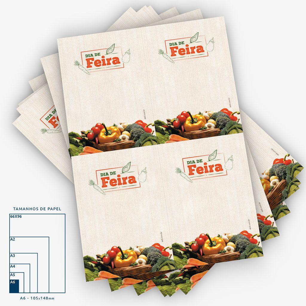 Cartaz Papel Offset 90g 4x0 Dia de Feira Legumes A6 50 Un