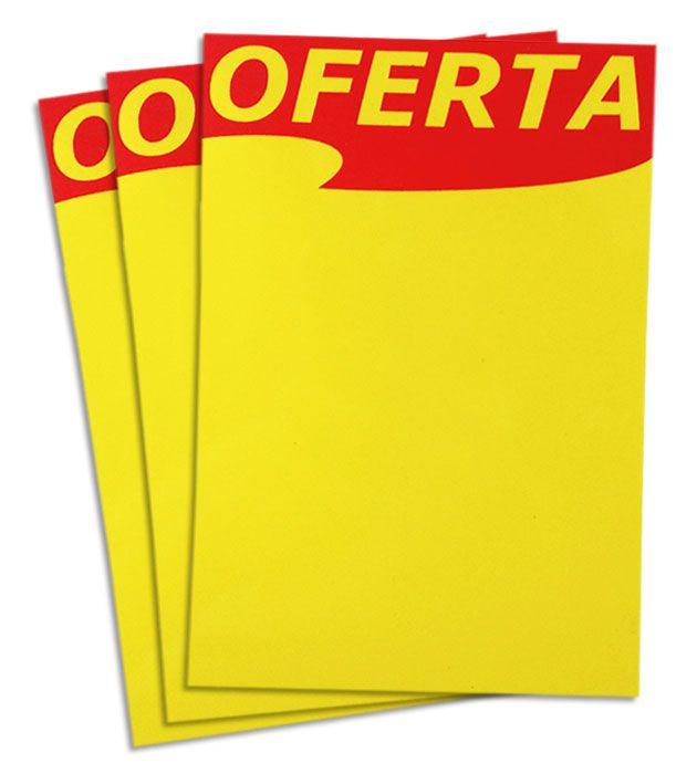 Cartaz Reutilizável Amarelo/Vermelho A6 10 un