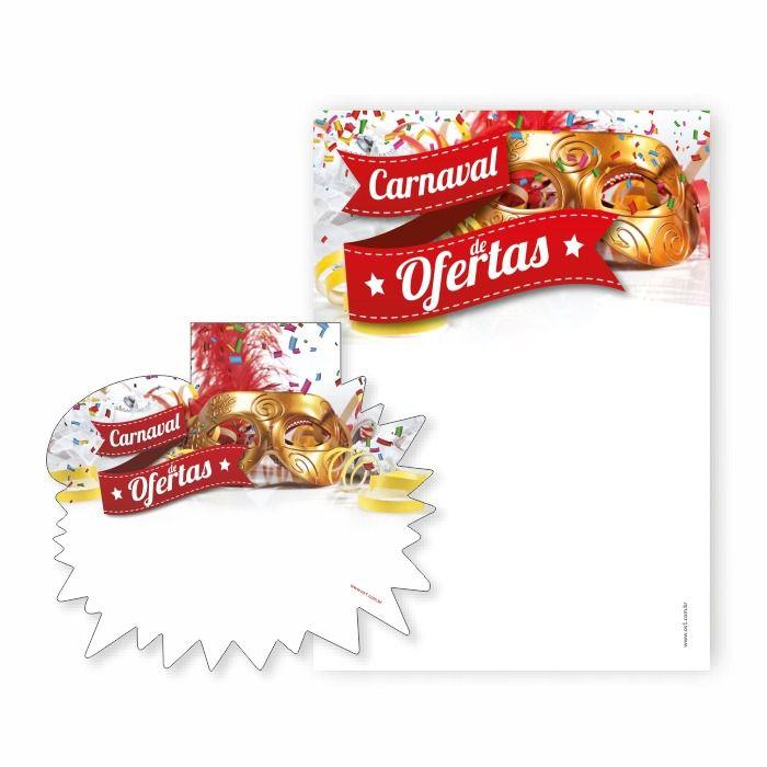 Combo Carnaval de Ofertas Cartaz A4 + Splash