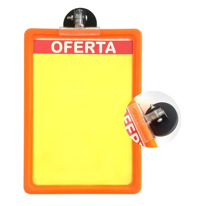 Combo Cartaz Papel Cartão Ofertas A4 + A5 200 un + Moldura Laranja A5 BRINDE