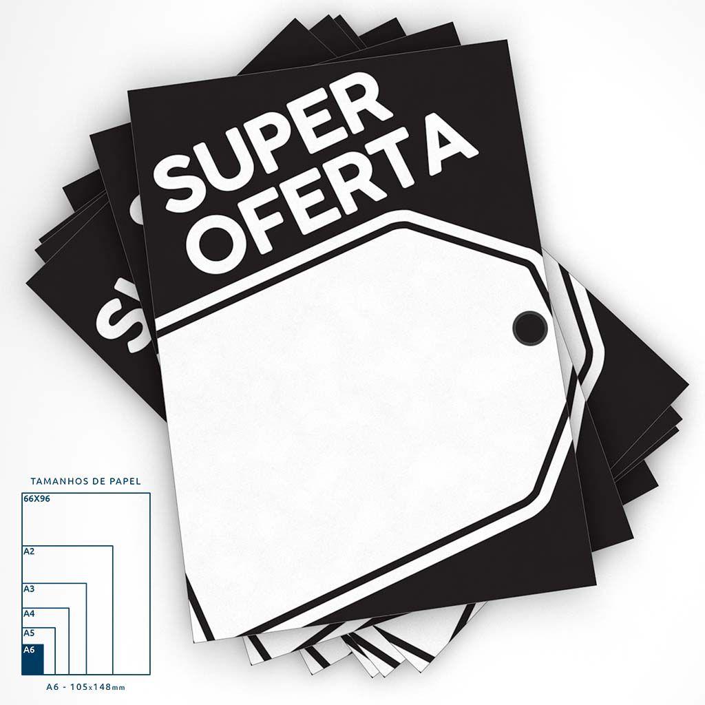 Combo Cartaz Super Oferta A4 + A5 + A6
