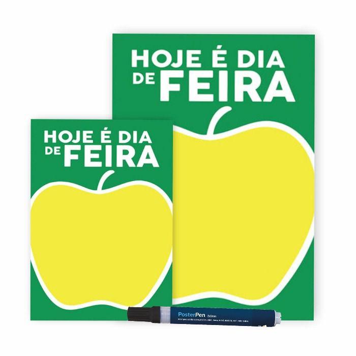 Combo Dia de Feira Cartaz A4 + A5 + Poster Pen 2/5 Preta
