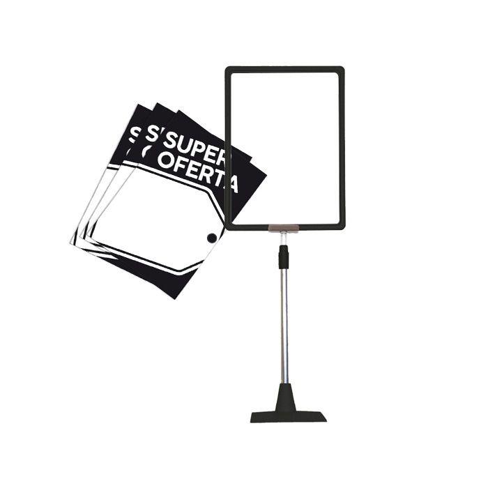 Combo Frame Kit Base Preto + Cartazes Super Oferta