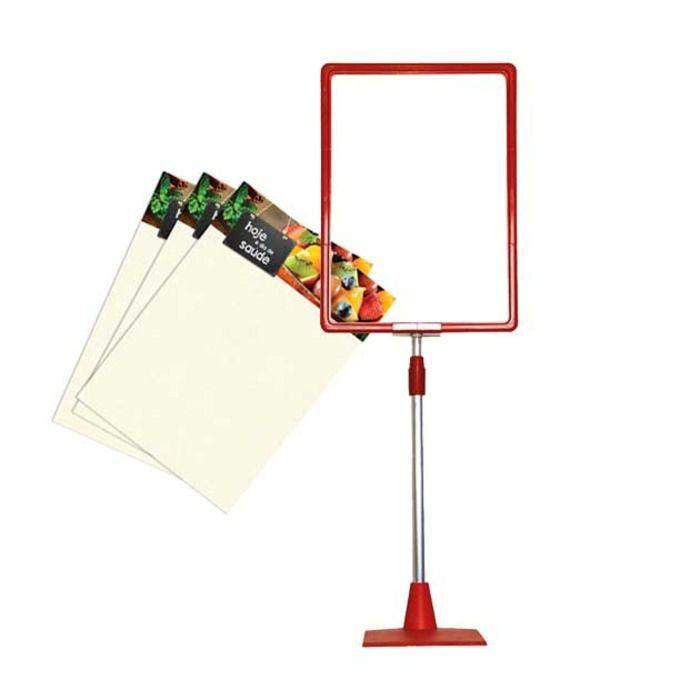 Combo Frame Kit Base Vermelho + Cartazes Dia de Saúde