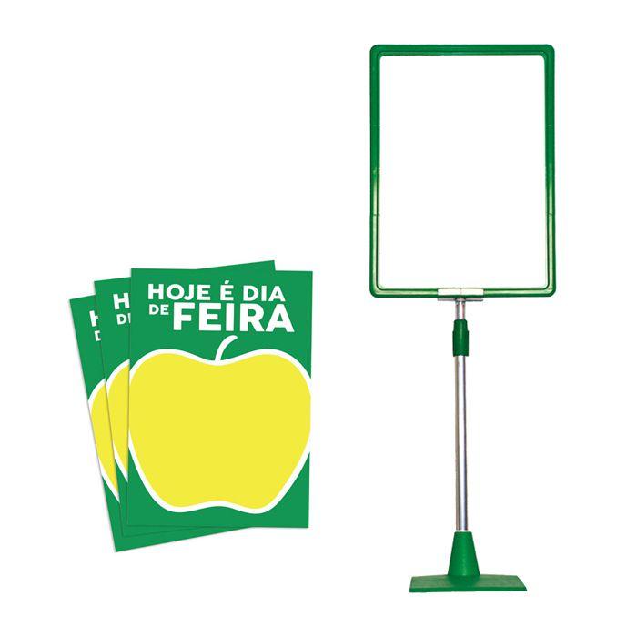Combo kit moldura Verde A3 + Cartazes Dia de Feira A3 50 unds