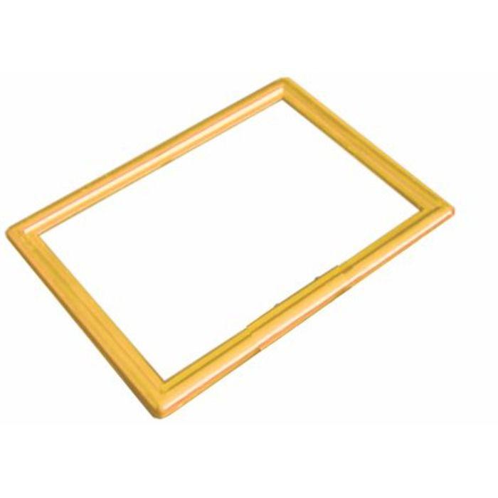 Frame Moldura Amarelo A4