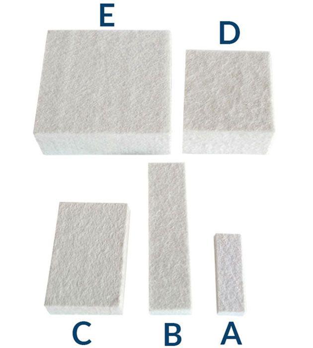 Refil Ponteiras de Feltro Branco Conjunto Markit A/B/C/D/E tamanhos mistos 5 un