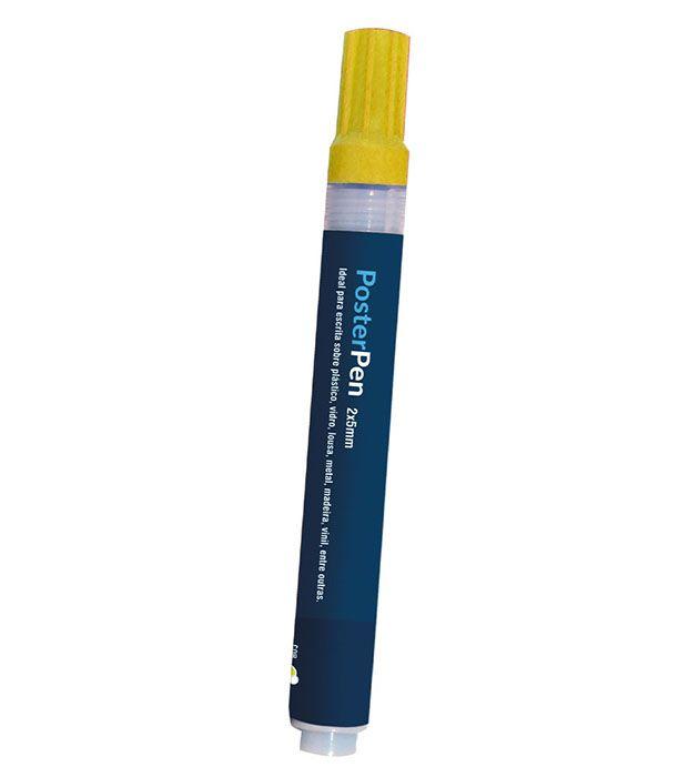 Caneta Profissional Recarregável Poster Pen Amarela 2/5