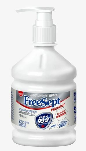 Sabonete Líquido Freesept Prevent com Nanopartículas de Prata 500 ml