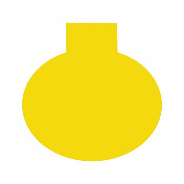 Splash Circular Reutilizável Redondo Amarelo 12X12 10 un