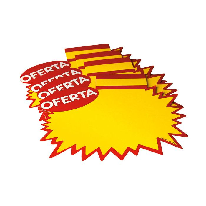 Cartaz Papel Cartão Splash Estrela Oferta 21,5x18,5cm 100 un