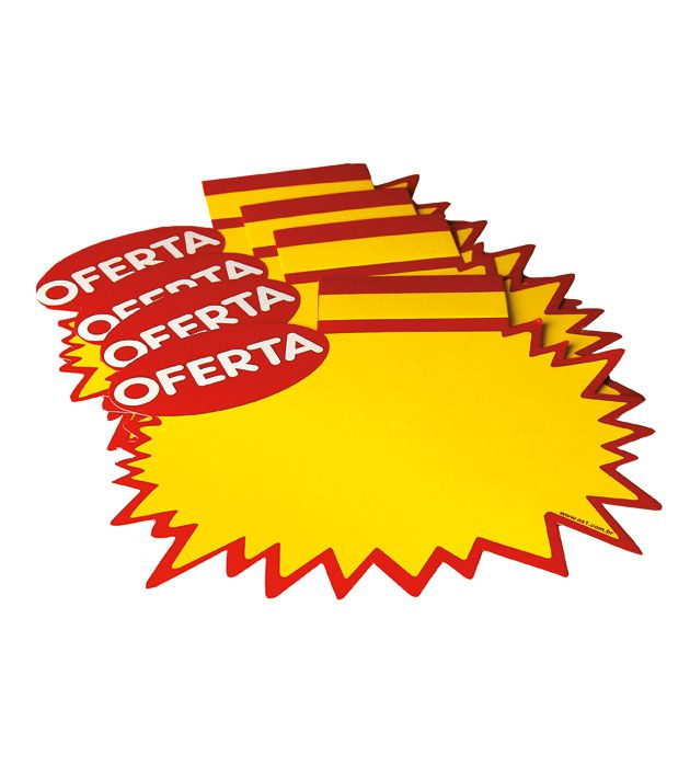 Splash Estrela Papel Cartão Oferta Amarelo/Vermelho 30X40 100 un