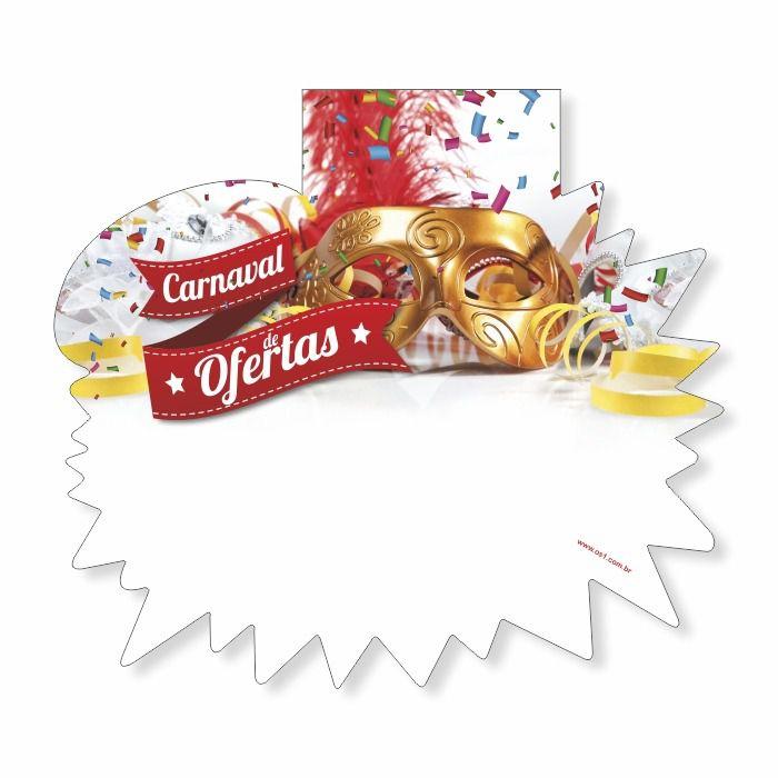 Splash Estrela Papel Cartão Temático Carnaval de Ofertas 11X16 25 un
