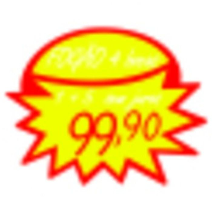 Splash Estrela Reutilizável Amarelo/Vermelho 40X50 10 un