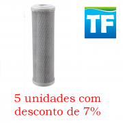 Elemento Filtrante Carvão Block 9.3/4' x 2.1/2' 5m; Encaixe - Bbie230/5 (5 unidades com 7% desconto)