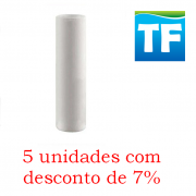 Elemento Filtrante Polipropileno Liso; Encaixe 09.3/4 X 2.1/2 - 5 Micra  (5 unidades com 7% desconto)