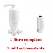 Filtro Agua Acqua Bella Branco 7411816  + Refil Acqua Bella Rv-01 7411004