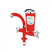 Torneira Bica Móvel Bancada Ideale Eco Vermelho/Cromado 8409 - Planeta Água