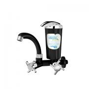 Torneira Bica Móvel Parede Ideale Eco Preto com Cromado 8402A - Planeta Água