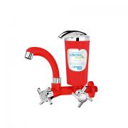 Torneira Bica Móvel Parede Ideale Eco Vermelho com cromado 8412A - Planeta Água