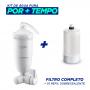Filtro Agua Acqua Bella Branco  + 1 Refil Acqua Bella Rv-01