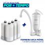 Torneira Bica Móvel Parede Acqua Bella Branco + 4 Refis Extra (Frete Grátis)