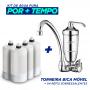 Torneira Bica Móvel Parede Acqua Bella Cromado + 4 Refis Extra (Frete Grátis)