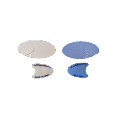 Botões De Acionamento BDF Frontal (Branco E Azul) - Kit