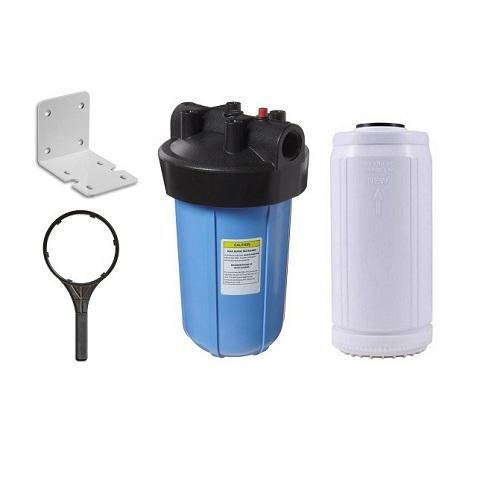 Carcaça Big 10´ Conexão 1.½´ Com Elemento Filtrante Removedor De Ferro. - Kit