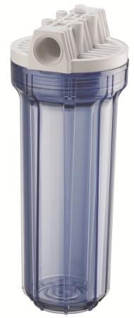 Carcaça 9.¾ Transparente X 2.½; Conexão ¾ Válvula De Alívio. - 910-0014