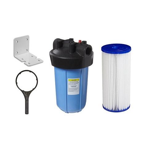 Carcaça Big 10´ Conexão 1.½´ Com Elemento Filtrante Lavável 30 Micra. - Kit