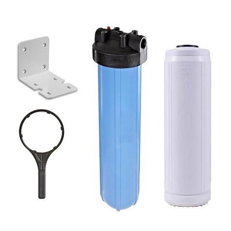 Carcaça Big 20' Con 1.1/2' Com Elemento Filtrante Removedor De Ferro - Kit
