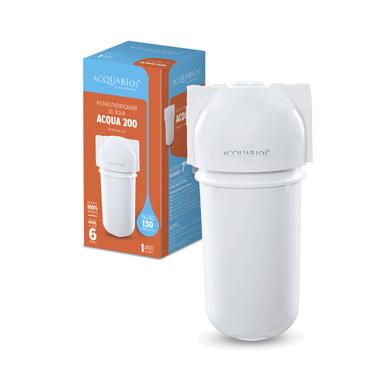 Filtro Acqua 200 Branco Ab200 Conexão 1/2´ (Sem Torneira) - 1000-0027